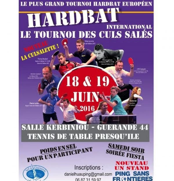 Tournoi Hardbat Guérande 2016