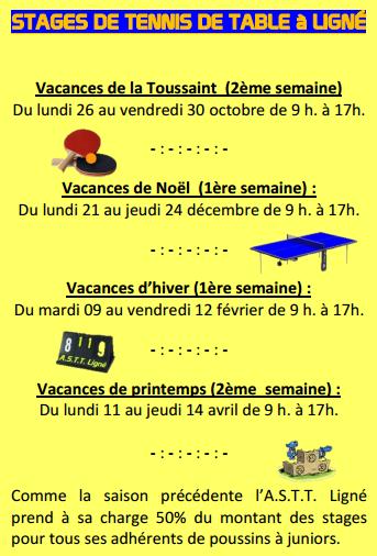 Stages jeunes 2015-2016