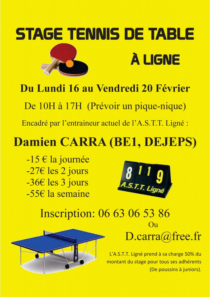 FLYER-STAGE TENNIS DE TABLE