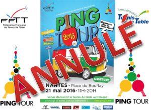 Ping Tour Nantes annulé