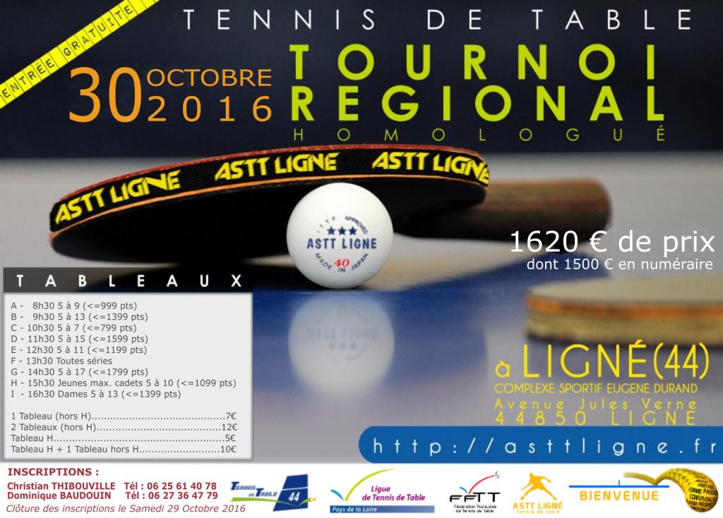 Affiche Tournoi Régional 2016