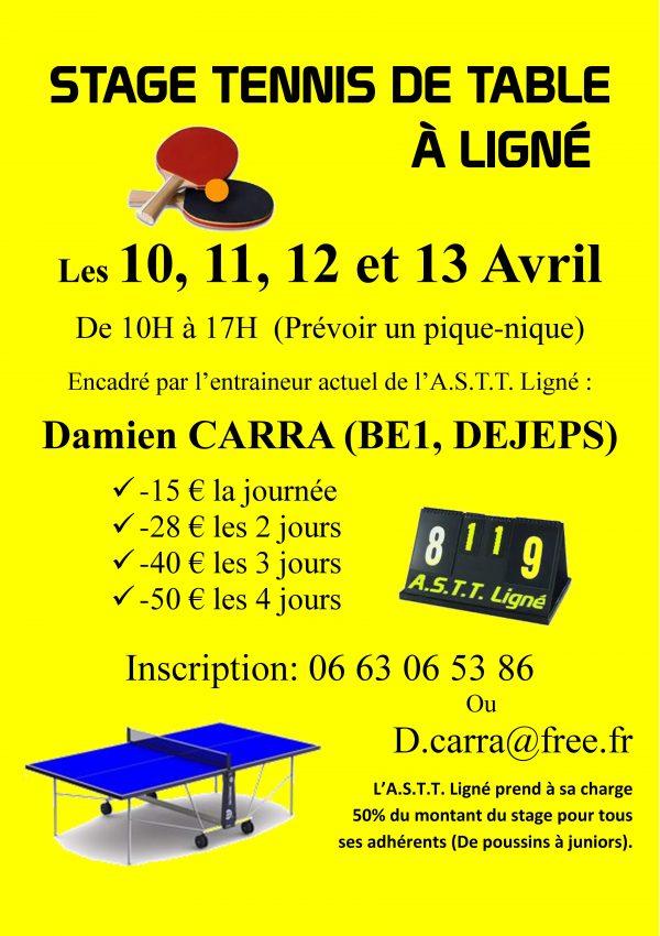Stage Jeunes Avril 2017