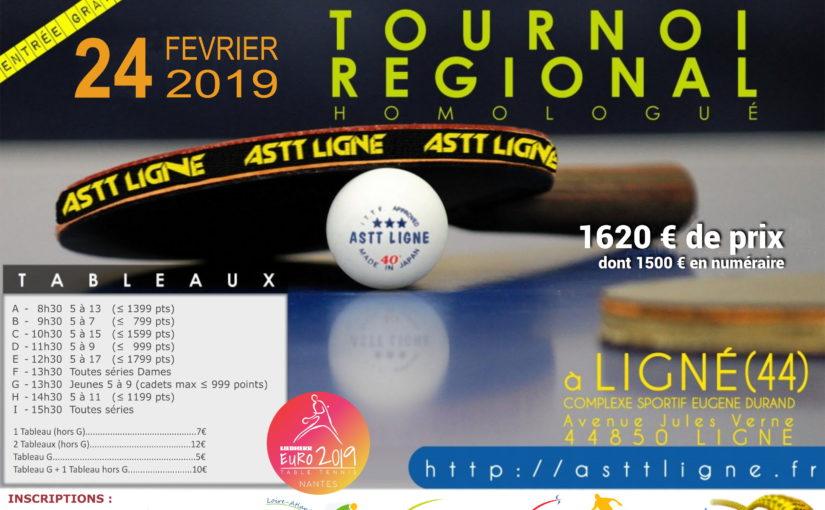 TOURNOI RÉGIONAL du 24 FÉVRIER 2019