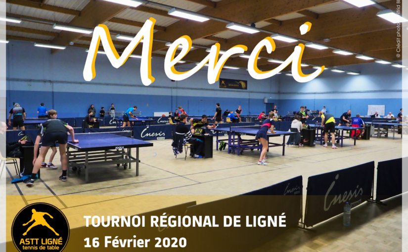 TOURNOI REGIONAL – 16 FEVRIER 2020